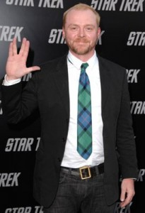 Simon Pegg at the premiere of Star Trek in 2009